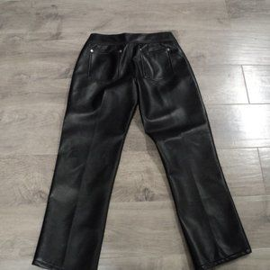 The Limited Women's Black Pleather Pants NWT